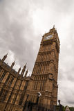 Big Ben on a cloudy day. Big Ben on a cloudy day, London royalty free stock photos