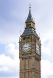 Big Ben on a cloudy morning Royalty Free Stock Photos