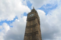 Big Ben on the cloudy sky. Big Ben on the beautiful blue cloudy sky stock image