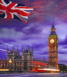 Big Ben during colorful evening in London, England, UK Royalty Free Stock Photos