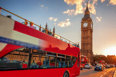 Big Ben during colorful sunset in London, England, UK Royalty Free Stock Images