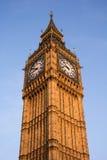 Big Ben con un'incandescenza calda di tramonto Fotografia Stock Libera da Diritti