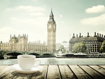 Big Ben and cup of coffee, London Royalty Free Stock Photo