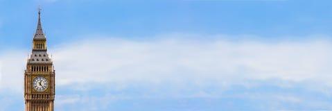 Big Ben, de Banner van het het Panoramaweb van Londen, Engeland royalty-vrije stock foto