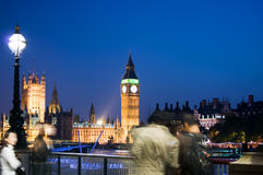 Big Ben an der Dämmerung Lizenzfreie Stockfotos
