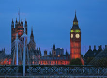 Big Ben an der Dämmerung in der Stadt London Stockfotos