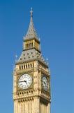 Big Ben detail. Detail of clock face of Big Ben, London against blue sky Royalty Free Stock Image