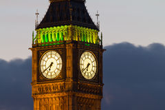 Big Ben. Detail. Avond Royalty-vrije Stock Afbeeldingen