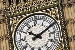 Big Ben - Detail der Borduhr Lizenzfreies Stockbild