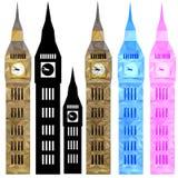 Big Ben di vettore di colore in poli basso Fotografie Stock