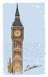 Big Ben disegnato a mano Fotografia Stock Libera da Diritti