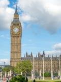 Big Ben do jardim do quadrado de Paliament em Londres Fotos de Stock