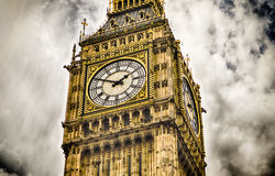 Big Ben, domy parlament, Londyn Obrazy Stock