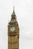 Big Ben, domy parlament - odizolowywający nad bielem Big Ben niecka Obraz Stock