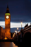 Big Ben at dusk. From the South bank of the Thames Royalty Free Stock Images