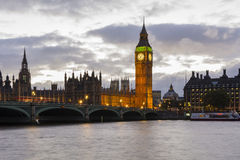 The Big Ben at dusk. Stock Photography