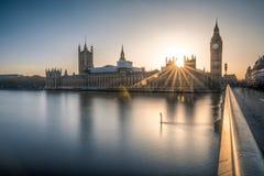 Big Ben e as casas do parlamento em Londres Fotografia de Stock Royalty Free