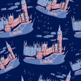 Big Ben e Camera del Parlamento, Londra, Regno Unito Fotografia Stock Libera da Diritti
