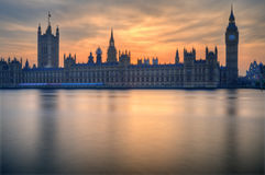 Big Ben e Camere del Parlamento Londra Fotografia Stock