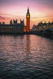 Big Ben e Camere del Parlamento, Londra, Regno Unito immagini stock libere da diritti
