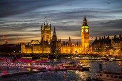 Big Ben e palazzo di Westminster Fotografie Stock