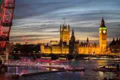 Big Ben e palazzo di Westminster Fotografia Stock