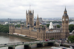 Big Ben e parlement Fotografie Stock