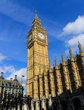 Big Ben e parte da casa do parlamento Imagem de Stock Royalty Free