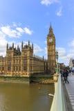 Big Ben e parte della casa del Parlamento Fotografia Stock Libera da Diritti