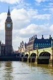 Big Ben e ponte di Westminster sul Tamigi Fotografia Stock