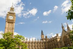 Big Ben e telefono immagini stock libere da diritti