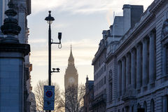 Big Ben in early winter morning. London Royalty Free Stock Images