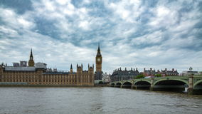 Big Ben ed il palazzo del timelapse di Westminster archivi video