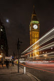 Big Ben/Elizabeth Tower alla notte Fotografia Stock