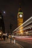 Big Ben/Elizabeth Tower på natten Arkivfoto