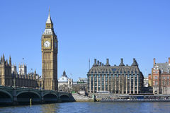Big Ben (Elizabeth Tower) and Portcullis House Royalty Free Stock Image