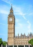 Big Ben, Elizabeth wierza w Londyn - Zdjęcie Stock