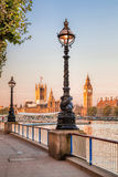 Big Ben with embankment in London, England, UK Stock Photo