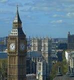 Big Ben en de stad van Londen stock afbeelding