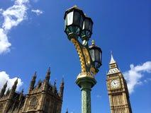 Big Ben en Huizen van het Parlement in Londen, het UK Royalty-vrije Stock Fotografie