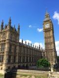 Big Ben en Huizen van het Parlement in Londen, het UK Stock Foto