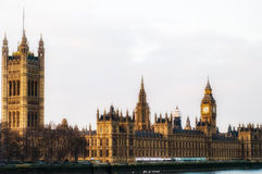 Big Ben en Huizen van het Parlement, Londen, het UK Stock Afbeelding