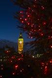 Big Ben en la Navidad fotografía de archivo libre de regalías