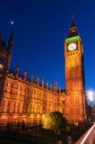 Big Ben en la noche Fotos de archivo libres de regalías