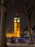 Big Ben en la oscuridad Imagen de archivo libre de regalías