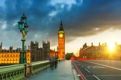 Big Ben en la puesta del sol, Londres Imagen de archivo