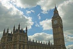Big Ben en Paleis van Westminster Stock Afbeelding
