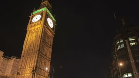 Big Ben en verkeer stock video