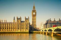 Big Ben et Chambres du Parlement, Londres Images libres de droits