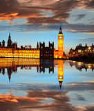 Big Ben in the evening, London, England Stock Images